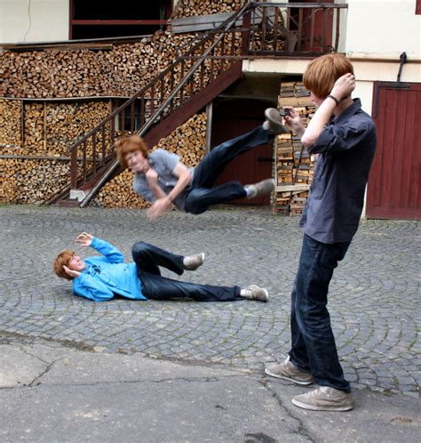 happy slapping foto bild dokumentation urban youth