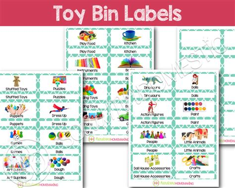 toy box label template doll clothes toy bin labels turquoise printable for classroom or