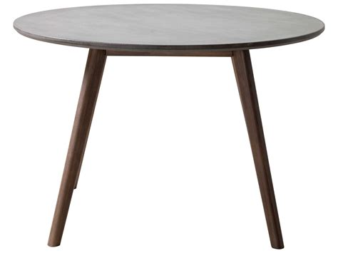 outdoor round wood table tops zuo outdoor elite acacia wood 45 30 round polt cement top