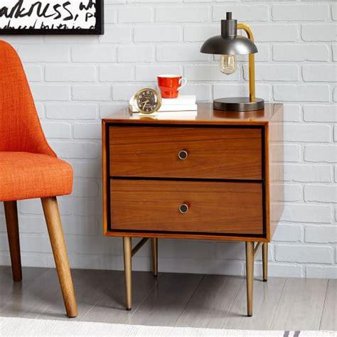 mid century nightstand heston mid century nightstand walnut west elm