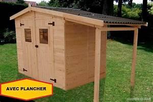 Abri Jardin Bois Bucher 348x187m 650m2 AVEC PLANCHER
