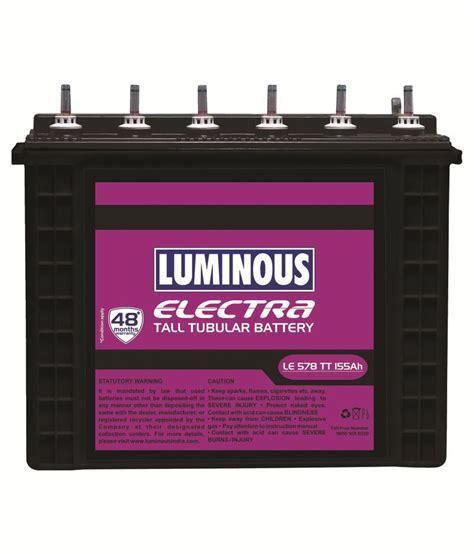 Luminous LE 578TT Batteries Price in India - Buy Luminous ...