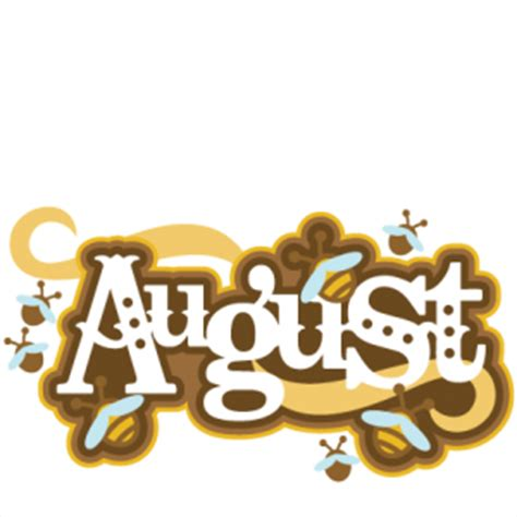 August Title SVG scrapbook cut file cute clipart files for ...