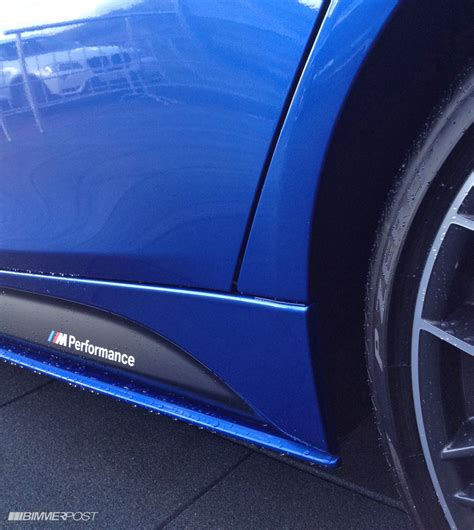 Bmw M Performance Parts On Estoril Blue And Mineral Grey