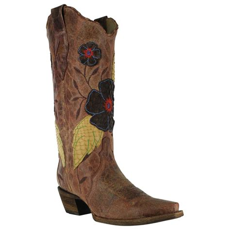 corral boots daisy inlay western crater boot barn a2048