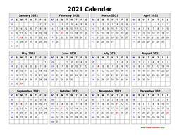 printable calendar    page clean