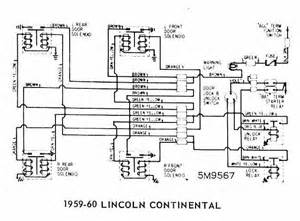Door Locks Wiring Diagram Of 1959 60 Ford Lincoln