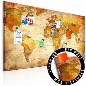 Weltkarte Bild Holz : bild weltkarte pinnwand holz vintage braun mit rahmen ~ Lateststills.com Haus und Dekorationen