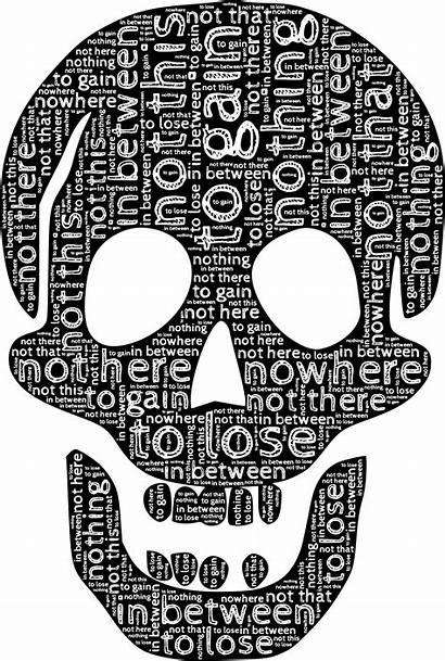 Skull Typography Words Symbol Rich Svg Habits