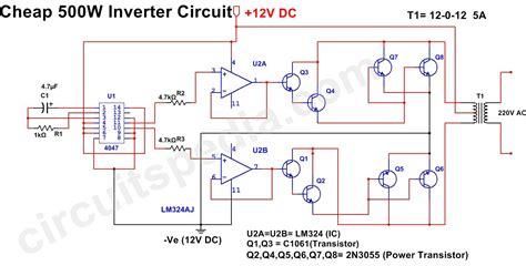 500w inverter circuit 12v dc to 220v ac inverter circuit diagram
