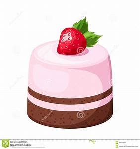 Mousse Cake. Vector Illustration. Stock Vector ...