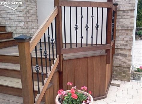 Porch Railing Wood - decks deck railing designs