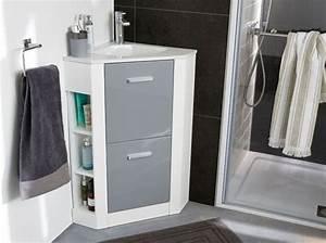 Colonne D Angle Salle De Bain : 40 meubles pour une petite salle de bains elle d coration ~ Teatrodelosmanantiales.com Idées de Décoration