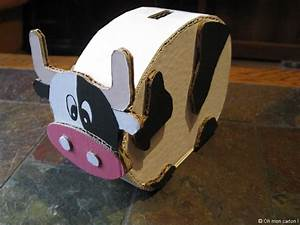 Faire Une Tirelire : oh mon carton cr ations tout en carton vache tirelire et porte stylos ~ Nature-et-papiers.com Idées de Décoration