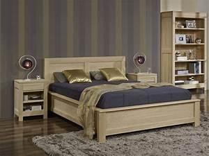 Lit En Bois Massif : meuble en bois lit ~ Teatrodelosmanantiales.com Idées de Décoration