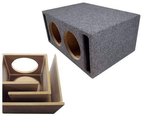 sub box design dual 12 quot ported subwoofer box enclosure gray 2x12vmbass