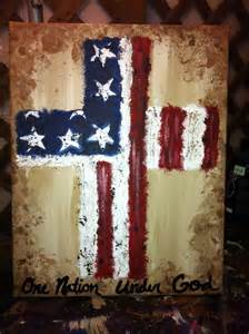 Patriotic Cross Painting Canvas
