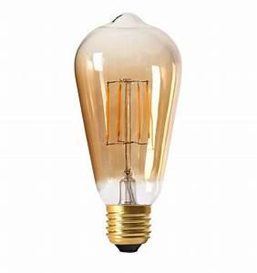 Ampoule Vintage E14 : ampoule led e27 4w filament et verre ambr blanc chaud ~ Edinachiropracticcenter.com Idées de Décoration