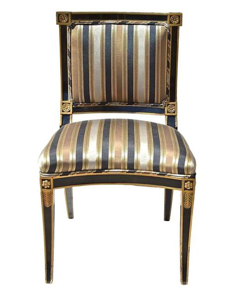black and white bedrooms classical style chairs in black and gold at 1stdibs 14562 | Classical chair Head on l