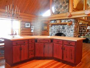 Rustic Red Kitchen Cabinets – Barebones Ely