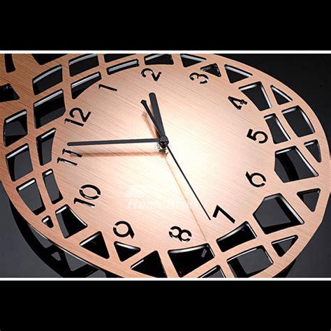 long wall clocks stainless steel pendulum rose goldsilver