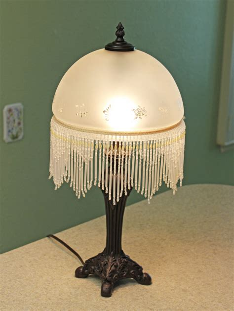 Small Table Lamps For Bedroom by Victorian Boudoir Lamp By Cheyenne Frosted Glass Dome Shade