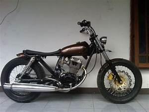 Motor Kastem Indonesia  Honda Gl100 Modif Sederhana