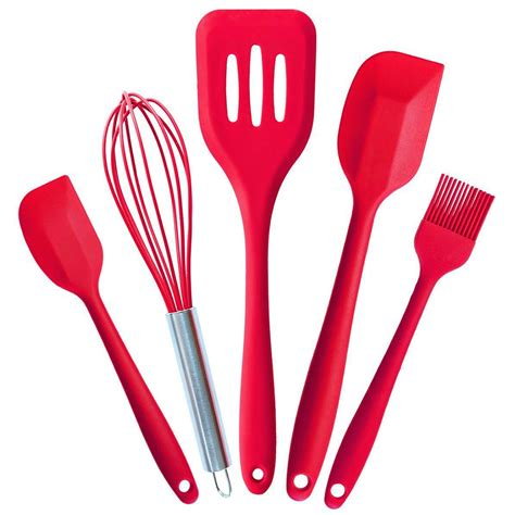 kitchen utensils silicone cooking tools wholesale china creative font 5pcs coating