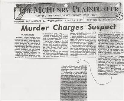 Murder Mchenry Plaindealer Suspect 1981 Charges Newspaper