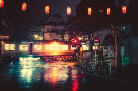 rainy night  tokyo brilliant photography  masashi