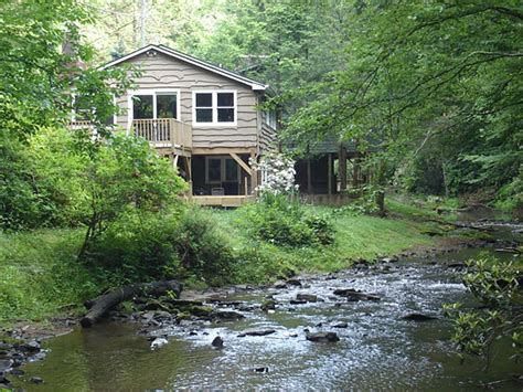 cabins in boone nc anglers cabin 2br 1 ba fish from the deck pet friendly