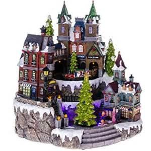 animated fiber optic lighted christmas village