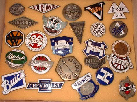 Collecting Old American Car Badges And Motoring Signs