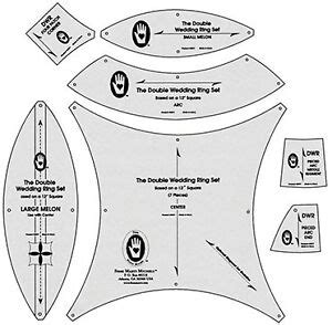 double wedding ring template michell double wedding ring template 7153a ebay