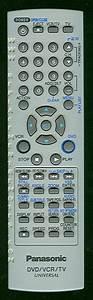 Buy Panasonic Eur7724kf0r Tv  Vcr  Dvd Combo Remote Control