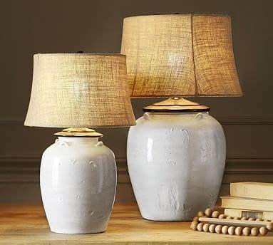Courtney Ceramic Table Lamp Base   Ivory   Pottery Barn