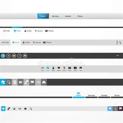 web design menu navigation bar website header stock photo
