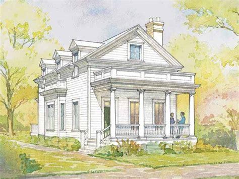 greek revival house plans small cottage  design