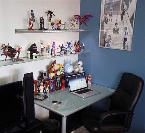 anime art workspaces figures comics interior designing