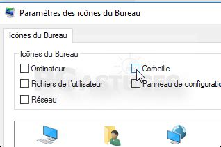 pc astuces retirer la corbeille du bureau windows 10