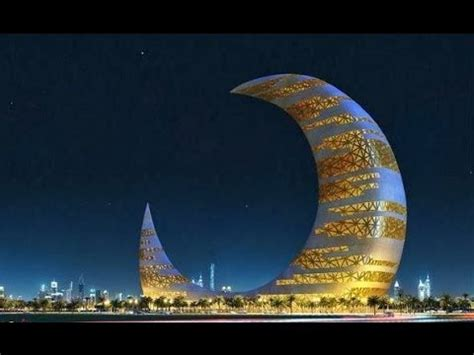 crescent moon tower  dubai youtube