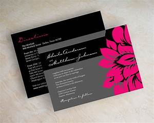 hot pink and black wedding invitations oxsvitationcom With wedding invitation designs fuchsia pink