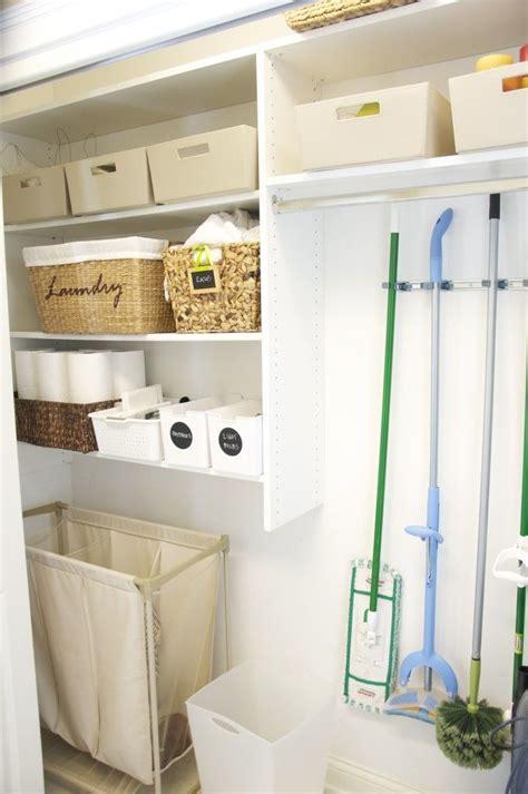 organized laundry room closet laundry room idea
