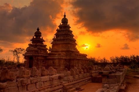 magnificent shore temple  rathas  mahabalipuram