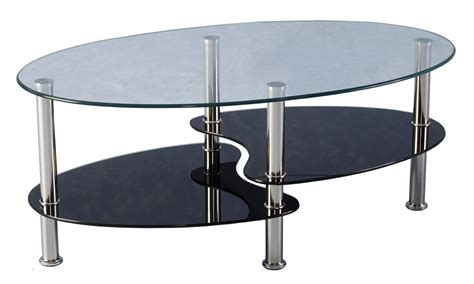 cara coffee table black glass cara black and clear glass coffee table