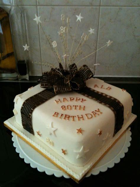 80th birthday cake 80ste verjaardag koeke pinterest