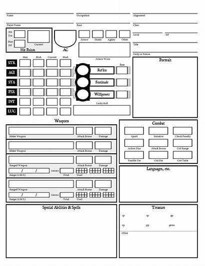 Dcc Sheet Character Rpg Pathfinder Another Monsters