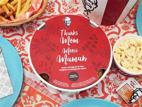 kfc canada brings  recordable mothers day bucket