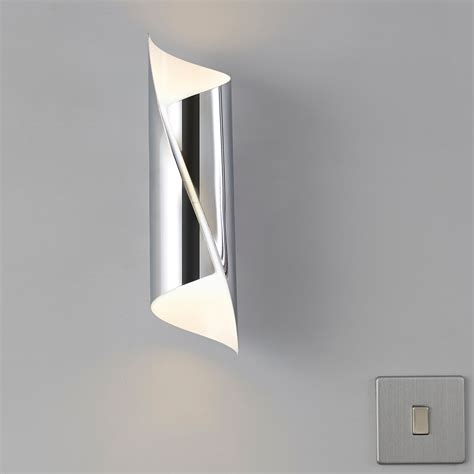 zodia cut tube chrome effect single wall light