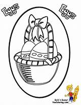 Easter Coloring Pages Egg Basket Eggs Colouring Sheets Yescoloring Boys Fancy sketch template
